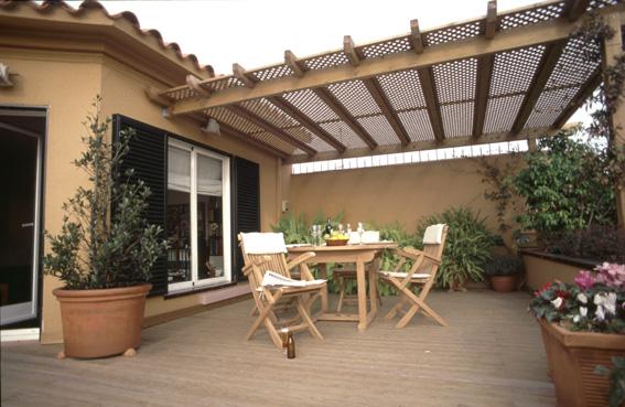 Plachas de policarbonato para techo en terraza Fotos de patios de casas pequenas