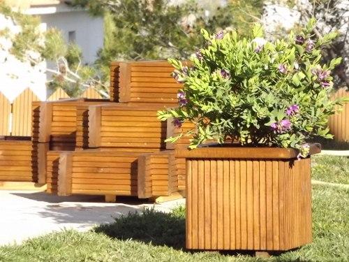 Venta de macetas y jardineras - Maceteros de madera para exterior ...