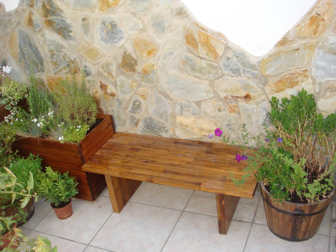 Bancos y sillas para jard n o terraza for Banco para jardin