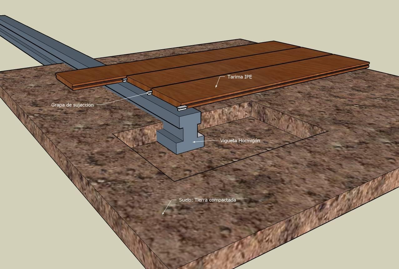 Tarima de madera para exterior tarima ipe losetas de madera - Tarimas de madera para exterior ...