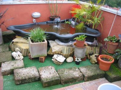 Estanques para terrazas y patios for Estanques pequenos para tortugas
