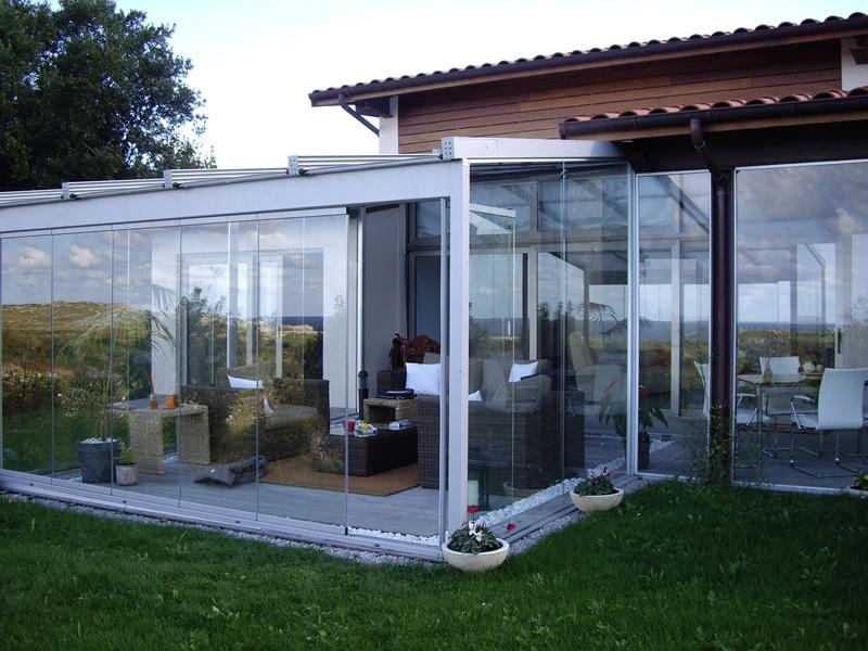 Cerrar terraza con cristales, aluminio, tipo habitación, galería ...
