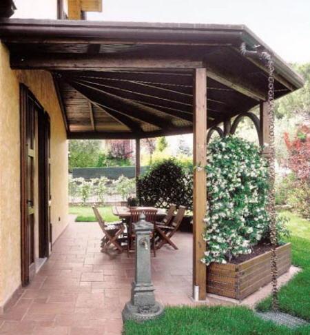 Equipamiento de terrazas y patios arriates barandilla for Valsain porche y jardin